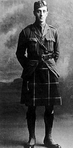 Basil Rathbone in the uniform of the Liverpool Scottish, in which he served as a lieutenant in World War One. He was awarded the Military Cross in September 1918. He went on to become a successful screen and stage actor.