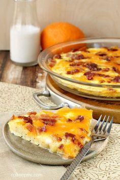 Potato Egg Bacon Cheese Bake #potatoeggbake
