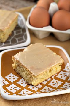 Browned Butter Banana Cake ~ Golden Butter Cake Loaded with Bananas and Browned Butter Glaze!