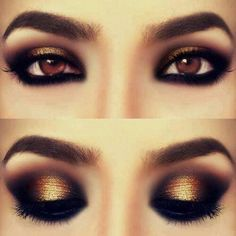 This bronze goes well with her eyes.