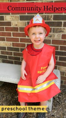 Community Helpers Preschool Theme (includes link to book lists for various themes)