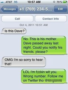 Funny Text Messages Wrong Number | funny-text-message-prank-wrong-number