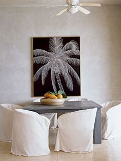 bonus room decor. Love the palm picture