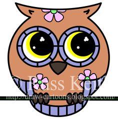 how to draw a cute owl dragoart