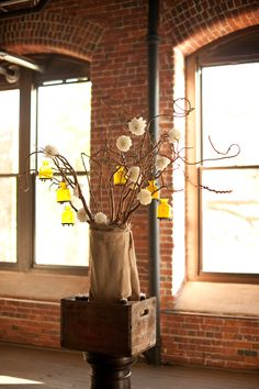 Rustic yellow decor.