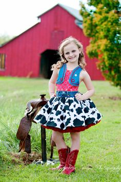 Cowgirl Dress, Cowgirl Costume, Woody dress, Toy Story Costume. $175.00, via Etsy.