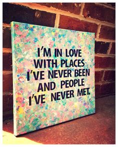 I'm in love quote on canvas 12 x 12 graduation by shopsignlanguage, $19.00