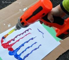 Make a painting machine! Process art meets mechanical engineering for kids.