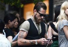 Street Style: New York Fashion Week #beard #men