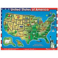 U.S.A. Map Sound Puzzle by Melissa & Doug