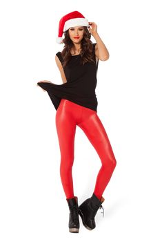 Wet Look Red Leggings - LIMITED by Black Milk Clothing $60AUD