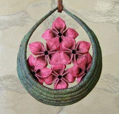 Origami Flower Necklace by Ben Coleman, aka Benagami.