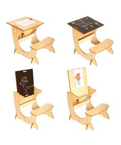 Take a look at this Wooden ArtStation with Blackboard & Easel by Little Helper on #zulily today!