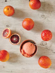 Blood orange ice cream.