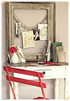 Great way to use an old frame
