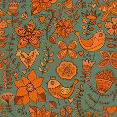 Romantic floral pattern by Pridumala, via Behance