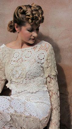 vestido de noiva doily