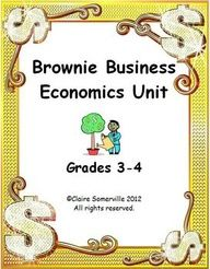 Common Core Economics: Brownie Business Unit~  Fun, easy, and ready-to-use economics project. Includes Word documents that can be formatted, such as timelines, templates, activities, posters, and publicity tools. Raise money, teach hands-on economics, and have fun, too!