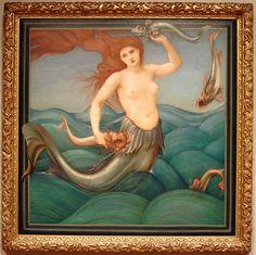 sea nymph - long lost burne-jones painting