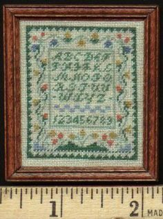 Miniature Needlepoint Sampler by Kathryn Depew