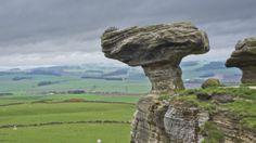 The 'Bunnet Stane' that sits near Gateside in Fife (Scotland).