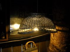 Basket Lamp I made for the pole barn...