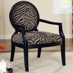 Animal Print Accent Chair (Zebra)