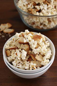 Everything Bagel Popcorn | Girl Versus Dough