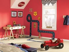 Race Track on the wall/floor