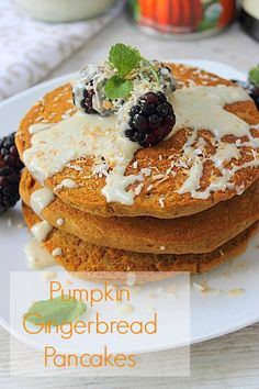 Gingerbread pancakes! #glutenfree #vegan sweet pumpkin gingerbread pancakes!!! Breakfast of the fall season!#vegan #glutenfree #foodporn #cleanfood #healthy #healthysurprise #nutrition #soyfree #whatveganseat