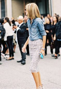 Denim Done Chic: How to Make Chambray Work For You This Summer via @Who What Wear