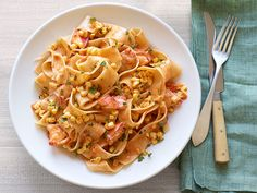 Pappardelle With Lobster and Corn from #FNMag