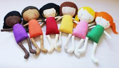 Elf Pop handmade cloth doll sewing patterns. Perfect to make a little mini-me for little girls.