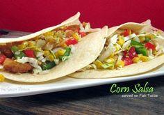 Fresh Corn Salsa...serve on Fish Tacos or as a side dish! fish tacos, shadi porch, side dish