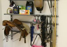 Great saddle rack for trailer or small barn if you can fit all of