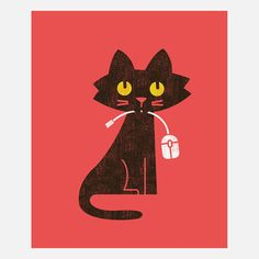 Hungry Cat Canvas Wrap, $65, now featured on Fab.