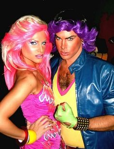 Jem and Rio costumes. So awesome.