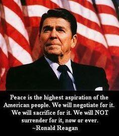 Ronald Reagan - Peace republican, america, cold war quotes, truth, peace, inspir, polit, patriot, ronald reagan