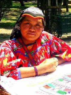 Huichol woman in Mexico City