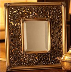 Marco bronce dorado antiguo