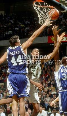 Cherokee Parks and Tim Duncan (Wake Forest)