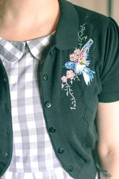 Embroidered Birds, Gingham and Peter Pan Collars | Finding Femme