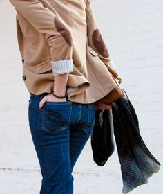 blazer with elbow patches