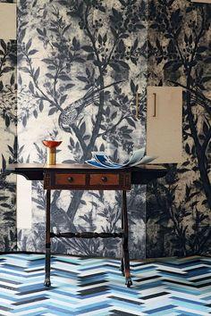 Wall Paper, Parquet Floors - Interior Design Trends 2014