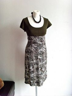 Mademoiselle Chaos: How to make dress from an old tee and skirt