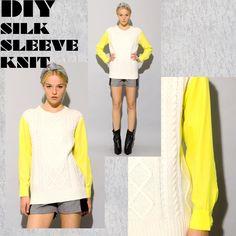 Idea: DIY Silk Sleeve Knit