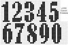 numeros en cross stich - Yahoo Image numbers chart