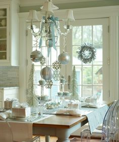I feel like the ornaments would get in the way of conversation but they are also so beautiful that I don't even care.