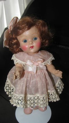 Vogue Ginny...April...1952..Gorgeous Doll...Side part hair...Fever cheeks