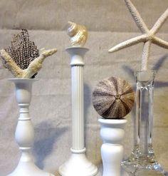 seashells and candlesticks